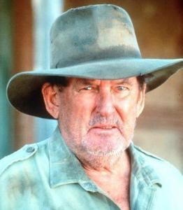 Ray Barrett was as at home in an Akubra hat in his film roles as he was on his 'home' island of North Stradbroke, near Brisbane.