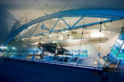 The Southern Cross: The very Fokker VII tri-motor that Sir Charles Kingsford Smith flew across the Pacific to Brisbane is housed in a special glass hangar near the International Terminal at Brisbane Airport today.